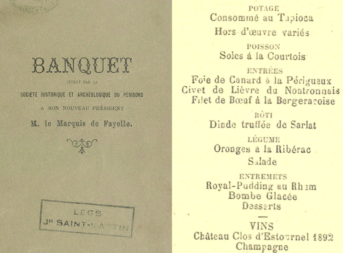 Banquet Fayolle 1902
