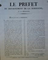Proclamation du préfet