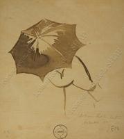 Un passant sous un parapluie