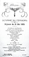 Menu semaine du Périgord 1928