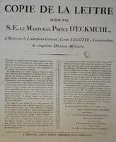 Lettre du maréchal d'Eckmulh au comte Lucotte