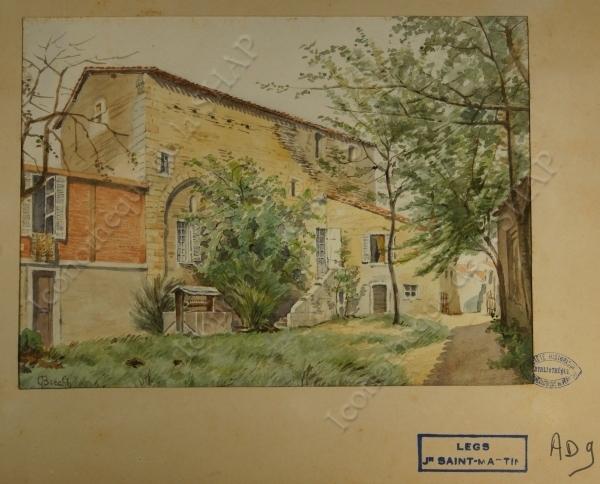 Maison romane près du château Barrière